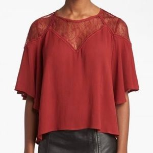 ASTR lace top blouse. NWT